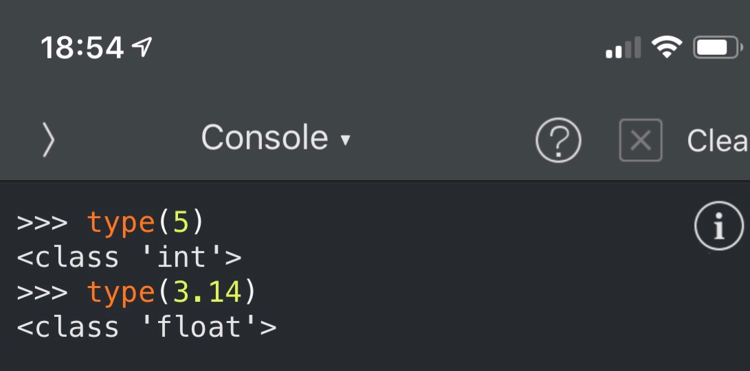 Pythonista Python Console