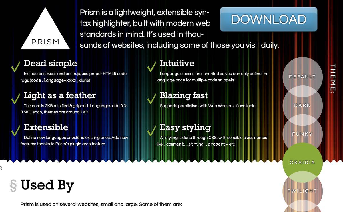 Python シンタックスハイライター prism.js