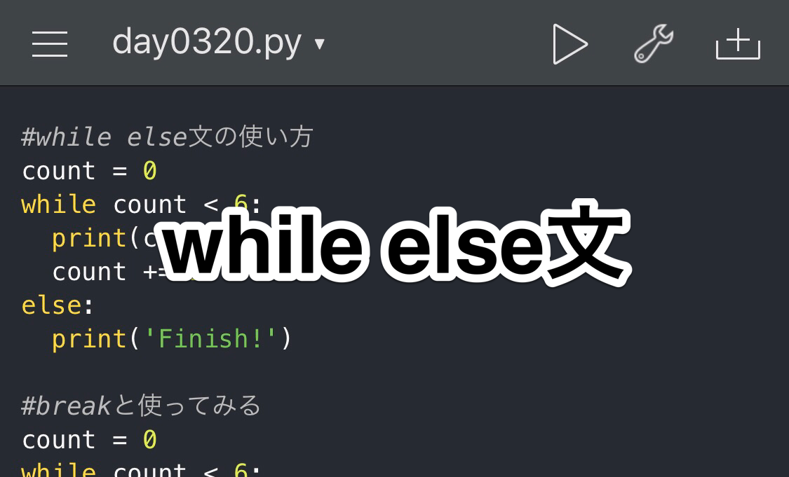Python while文 else