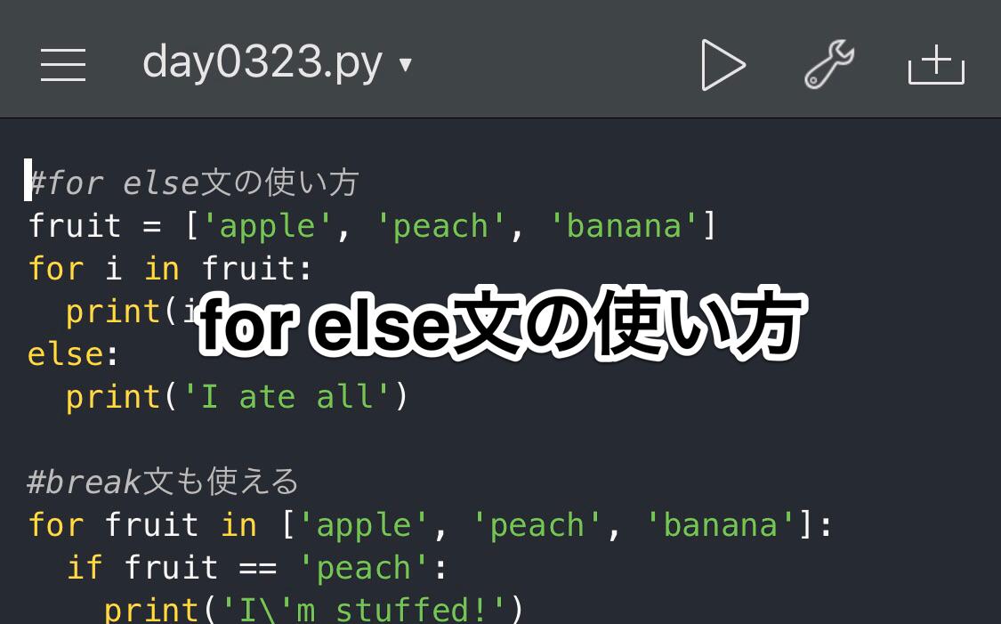 Python else文の使い方