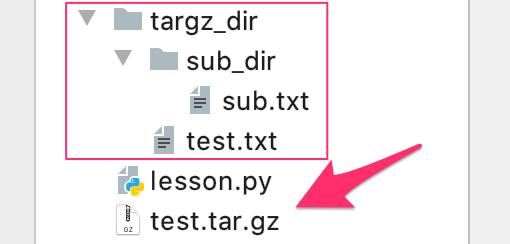 Python タージーゼット 圧縮