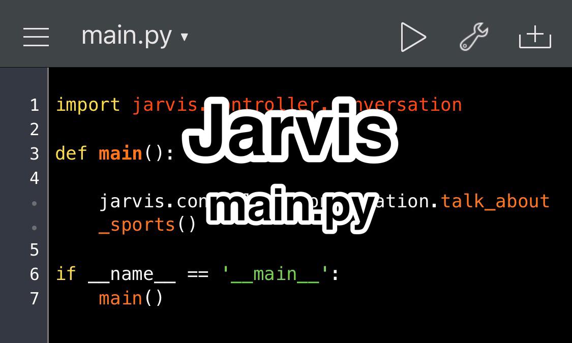 Pythonista 対話アプリ Jarvis MVCモデル