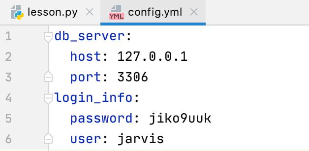 Python Pycharm yamlファイルの使い方