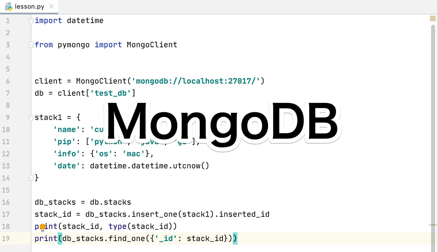 Python MongoDB