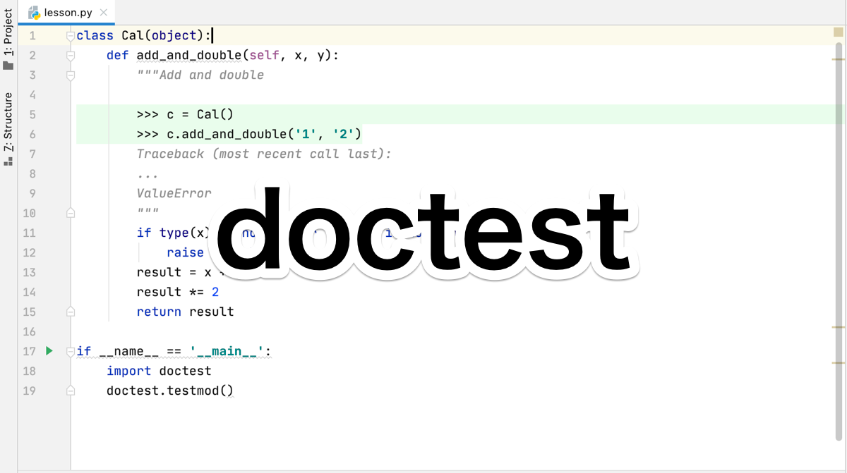 Python doctest