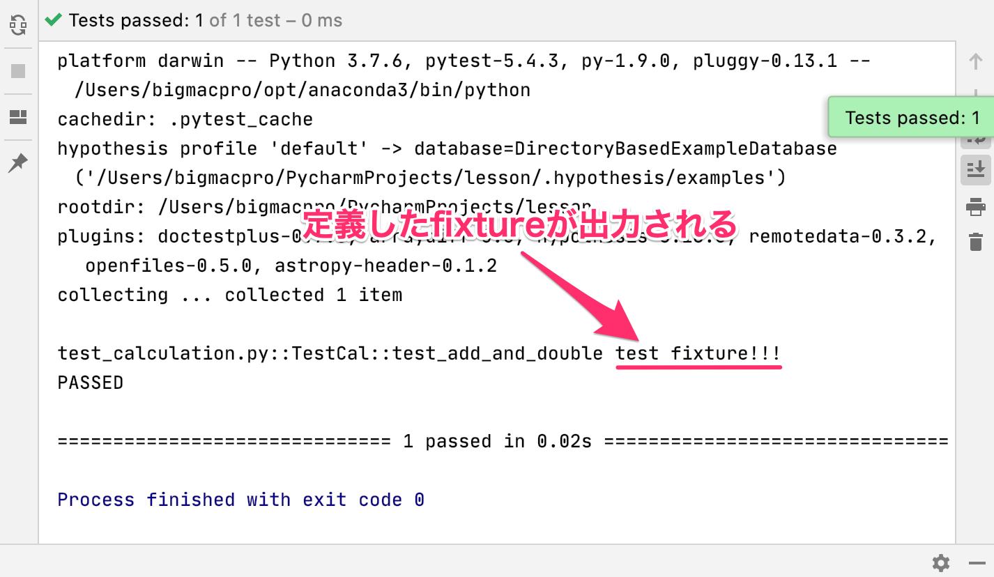Python 独自fixture