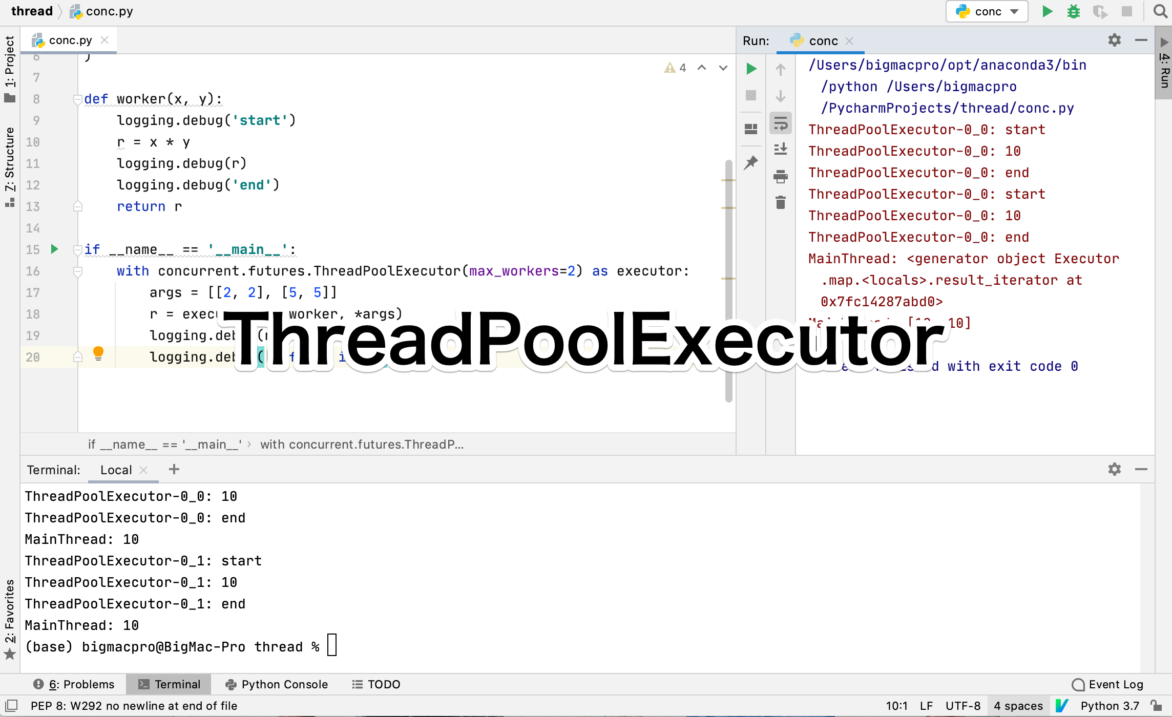 Python ThreadPool Executor