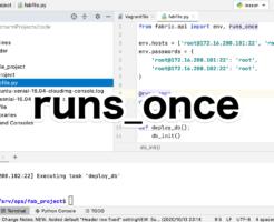 Python Fabric runs_onceの使い方
