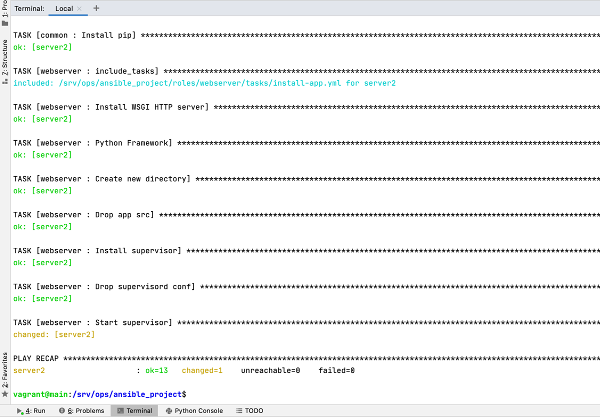 Python Ansible webserver