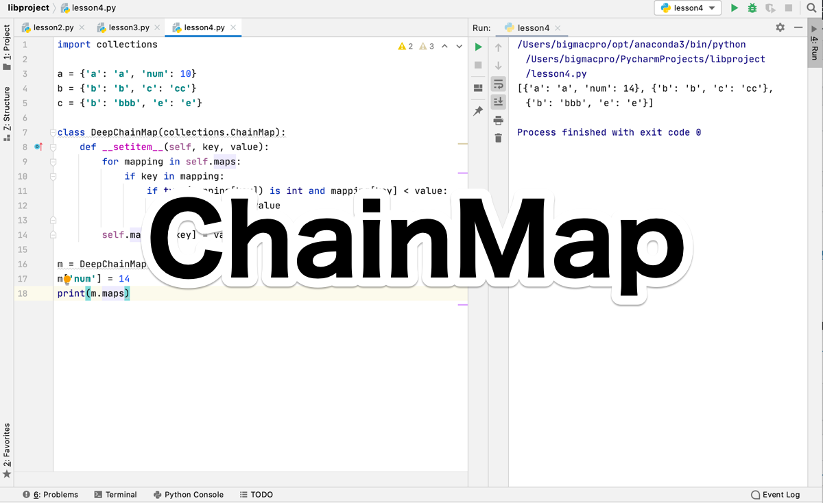 Python collections.ChainMap