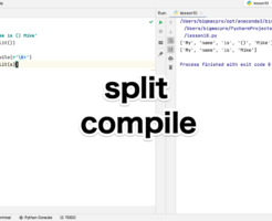 Python splitとcompileで文字を分割