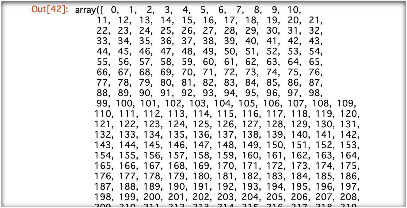 Numpy Python 数の多い配列の表示