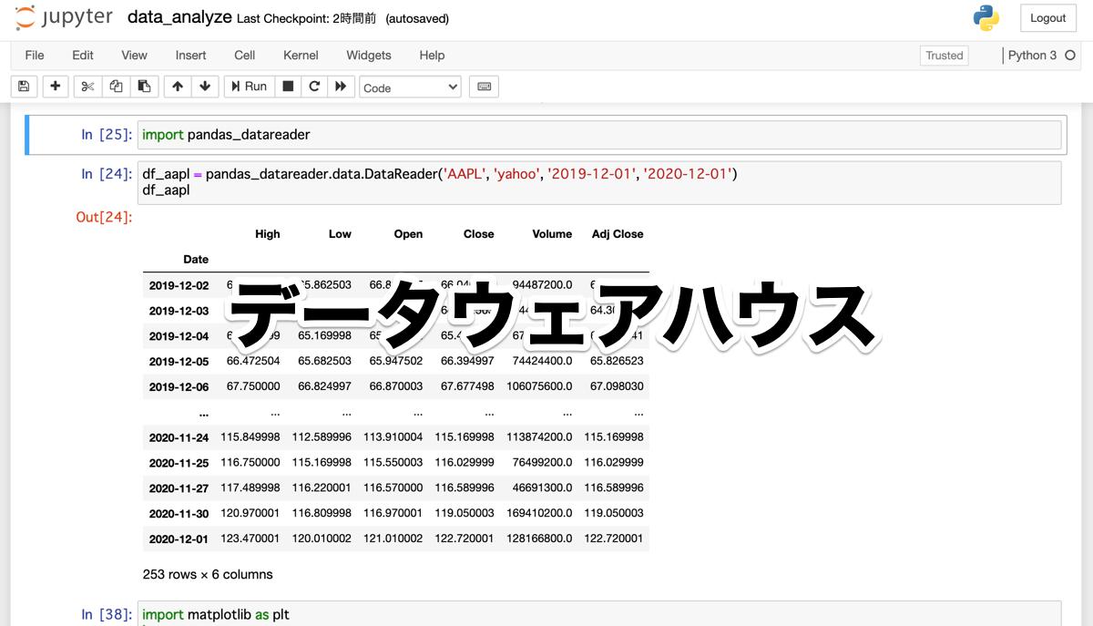 Python データウェアハウスの基本